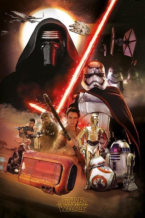 Plakát, Obraz - Star Wars VII: Síla se probouzí - Montage, (61 x 91,5 cm)