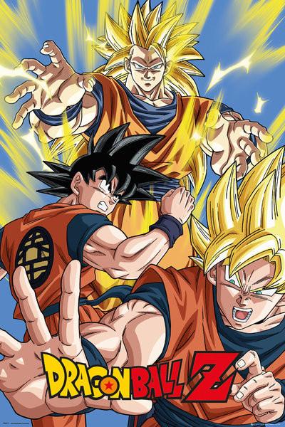 Plakát, Obraz - Dragon Ball Z - Goku, (61 x 91,5 cm)