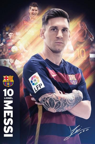 Plakát, Obraz - FC Barcelona - Messi 15/16, (61 x 91,5 cm)