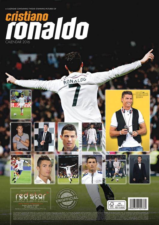 Bestel een Cristiano Ronaldo kalender 2017 op EuroPosters.be