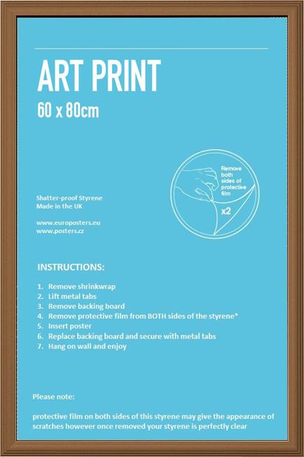 Ram -Art poster / affisch 60x80cm tall MDF