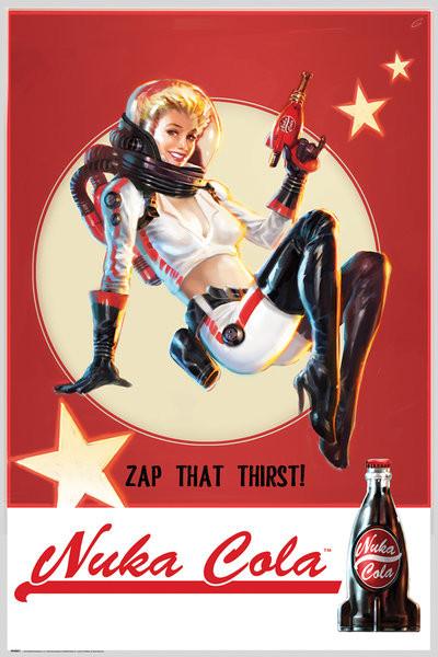 Plakát, Obraz - Fallout 4 - Nuka Cola, (61 x 91,5 cm)