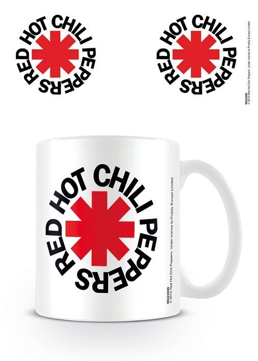Hrnek Red Hot Chili Peppers - Logo White