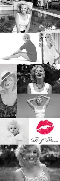 Plakát, Obraz - Marilyn Monroe - Tiles, (53 x 158 cm)