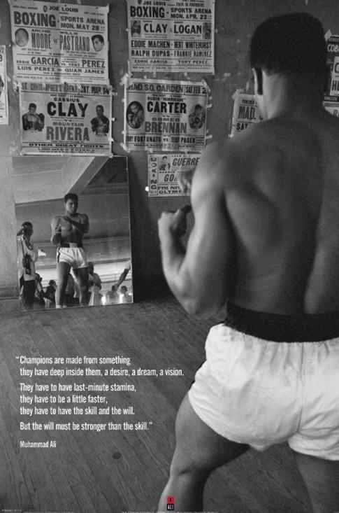 Plakát, Obraz - Muhammad Ali - gym, (61 x 91,5 cm)