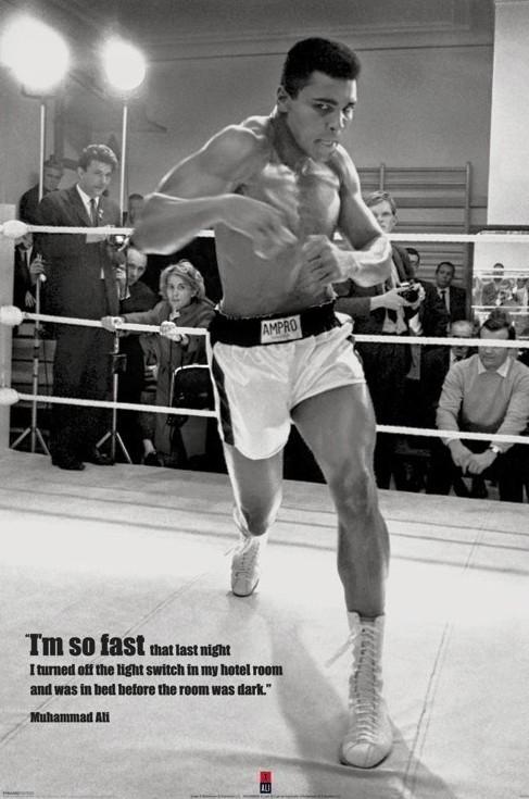 Plakát, Obraz - Muhammad Ali - fast, (61 x 91,5 cm)