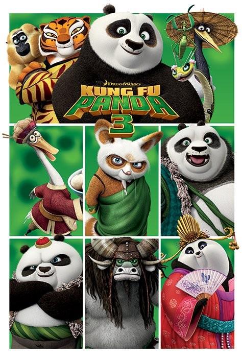 Plakát, Obraz - Kung Fu Panda 3 - Characters, (61 x 91,5 cm)