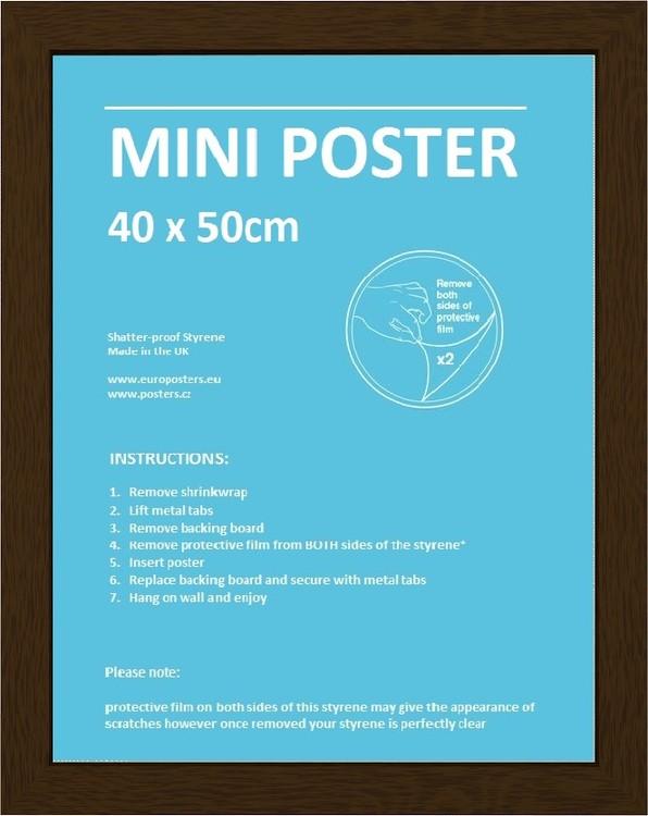 Rahmen - Mini Poster 40x50cm Nussbaum MDF