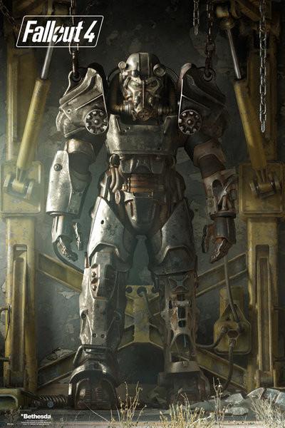 Plakát, Obraz - Fallout 4 – Key Art Poster, (61 x 91,5 cm)