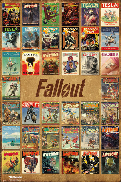 Plakát, Obraz - Fallout 4 - Magazine Compilation, (61 x 91,5 cm)