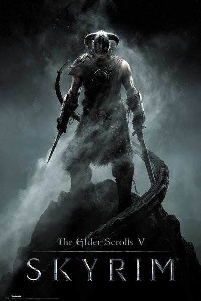 Plakát, Obraz - Skyrim - Dragonborn, (61 x 91,5 cm)