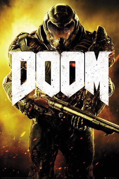 Plakát, Obraz - Doom - Marine, (61 x 91,5 cm)