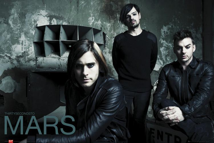 30 Second to Mars - green - плакат (poster)