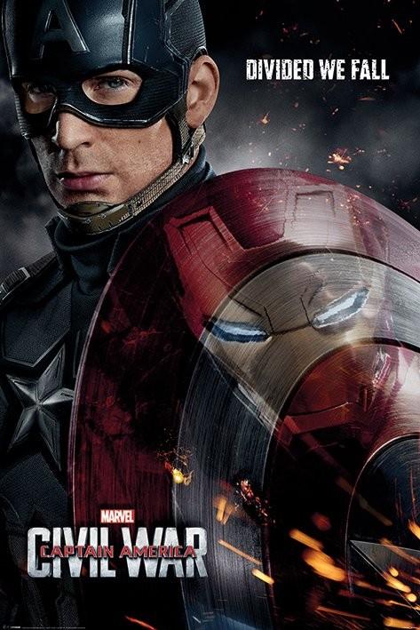 Plakát, Obraz - Captain America: Občanská válka - Reflection, (61 x 91,5 cm)