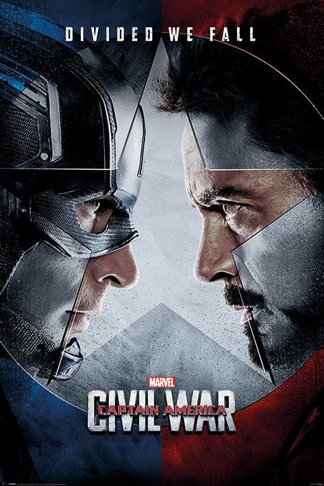 Plakát, Obraz - Captain America: Občanská válka - Face Off, (61 x 91,5 cm)