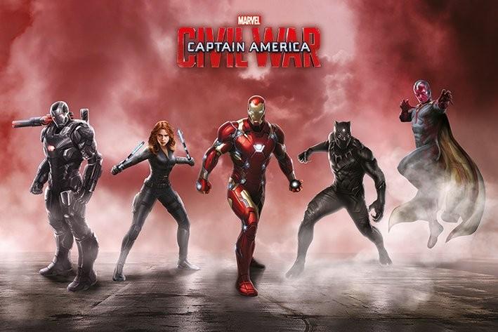 Plakát, Obraz - Captain America: Občanská válka - Team Iron Man, (91,5 x 61 cm)