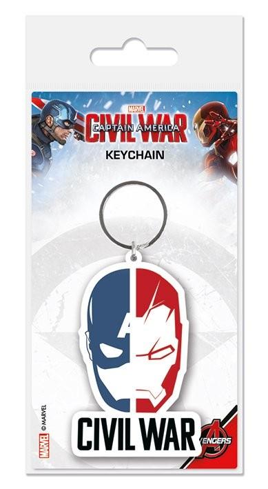 Klíčenka Captain America: Občanská válka - Face Split