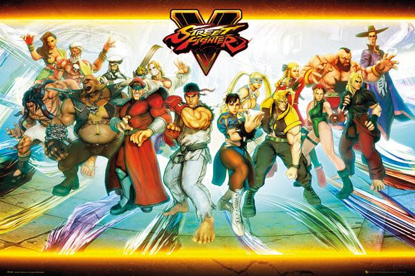 Plakát, Obraz - Street Fighter 5 - Characters, (91,5 x 61 cm)
