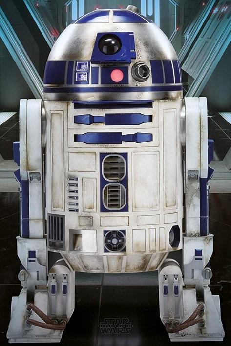 Plakát, Obraz - Star Wars VII - R2-D2, (61 x 91,5 cm)
