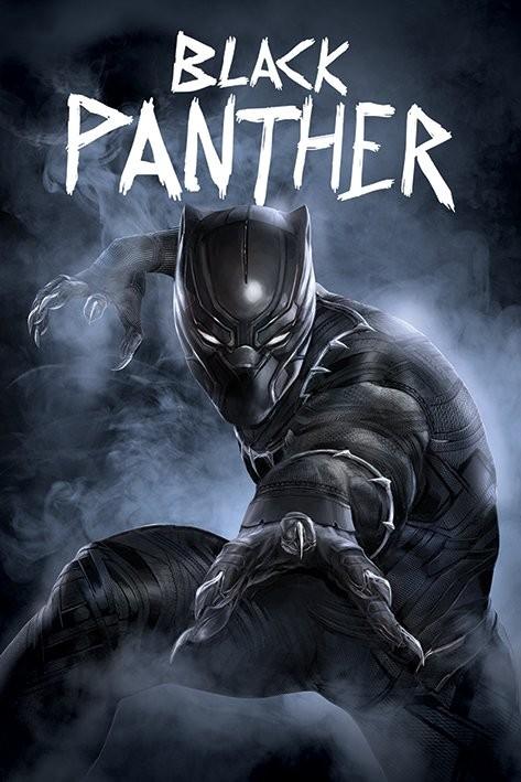 Plakát, Obraz - Captain America: Občanská válka - Black Panther, (61 x 91,5 cm)
