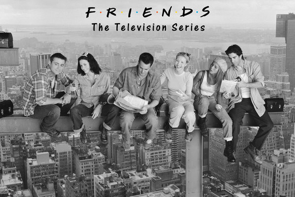 Plakát, Obraz - Přátelé - Friends - On Girder, (91,5 x 61 cm)