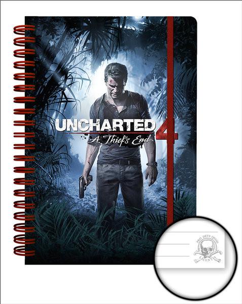 Uncharted 4 - Cover Zápisník