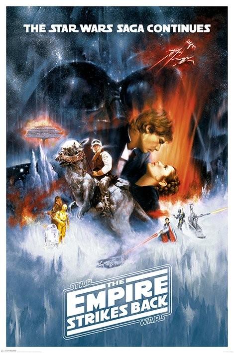 Plakát, Obraz - Star Wars: Epizoda V Impérium vrací úder - One sheet, (61 x 91,5 cm)