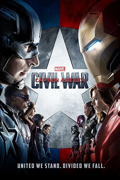 Plakát, Obraz - Captain America: Občanská válka - One Sheet, (61 x 91,5 cm)