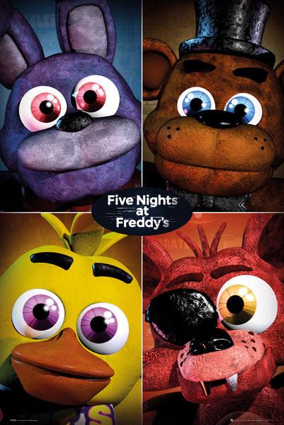Plakát, Obraz - Five Nights At Freddy's - Quad, (61 x 91,5 cm)