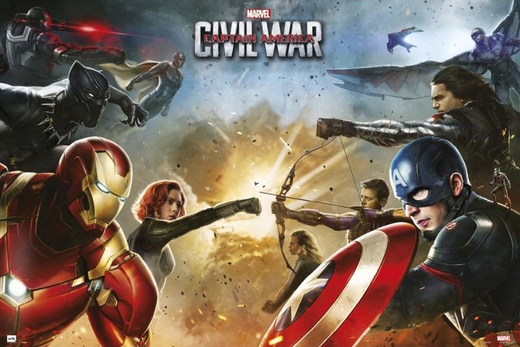 Plakát, Obraz - Captain America: Občanská válka - Teams, (91,5 x 61 cm)