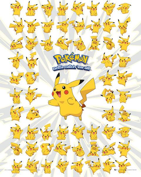 Plakát, Obraz - Pokemon - Pikachu, (40 x 50 cm)