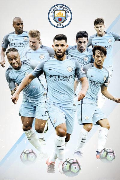 Plakát, Obraz - Manchester City - Players, (61 x 91,5 cm)