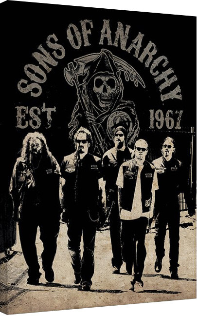 Obraz na plátně Sons of Anarchy (Zákon gangu) - Reaper Crew, (60 x 80 cm)