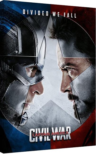 Obraz na plátně Captain America: Občanská válka - Face off, (60 x 80 cm)