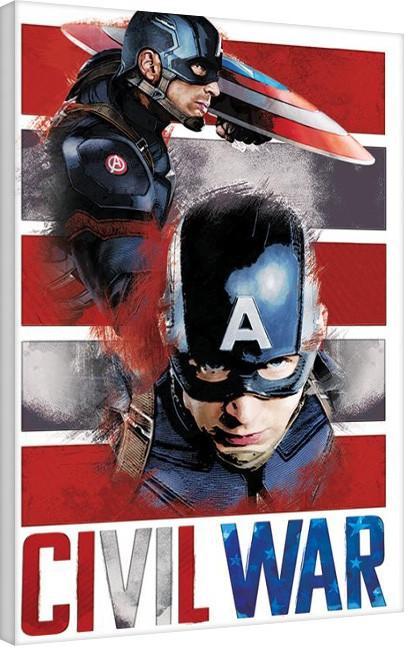 Obraz na plátně Captain America: Občanská válka - Split, (60 x 80 cm)