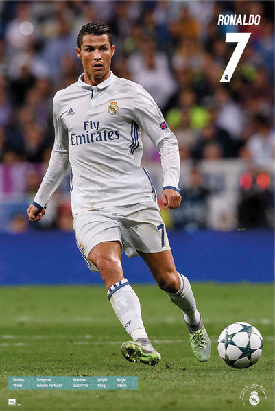 Plakát, Obraz - Real Madrid - Ronaldo, (61 x 91,5 cm)