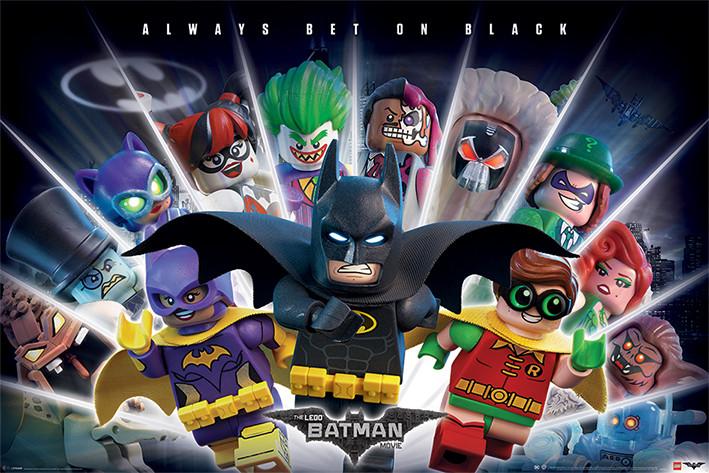 Plakát, Obraz - Lego Batman - Always Bet On Black, (91,5 x 61 cm)