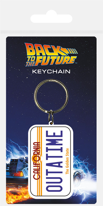 Klíčenka Návrat do budoucnosti - License Plate