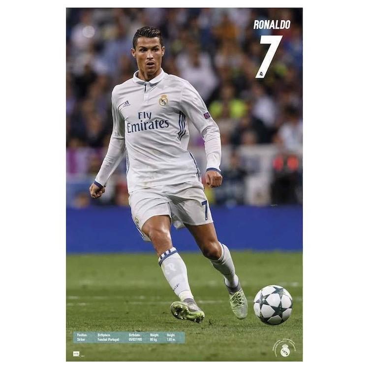 Plakát, Obraz - Real Madrid 2016/2017 - Ronaldo Accion, (61 x 91,5 cm)