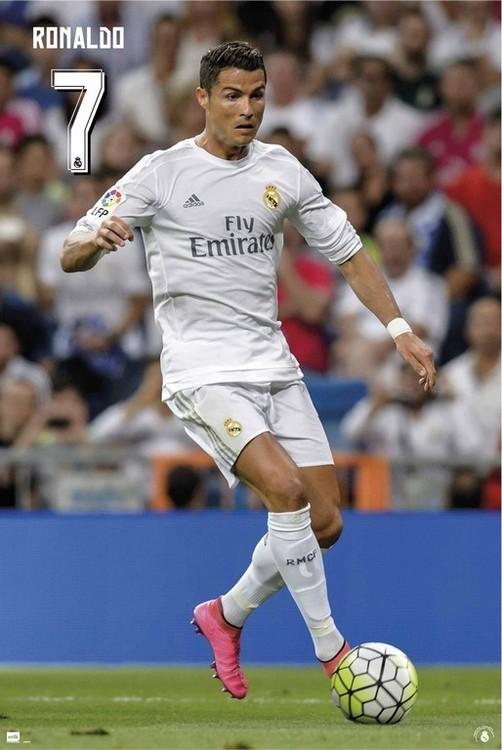 Plakát, Obraz - Real Madrid 2015/2016 - Cristiano Ronaldo, (61 x 91,5 cm)