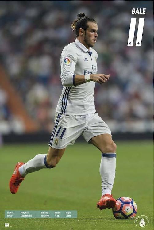 Plakát, Obraz - Real Madrid 2016/2017 - Gareth Bale, (61 x 91,5 cm)