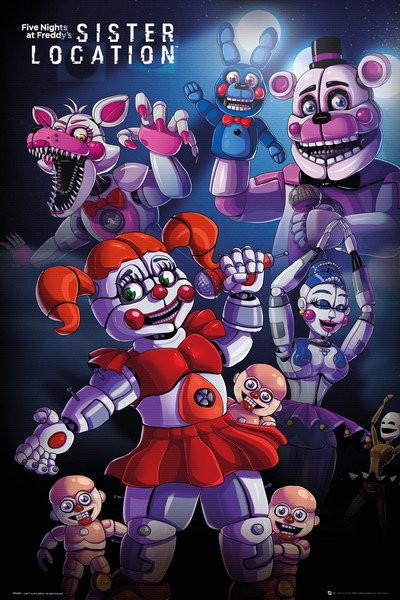 Plakát, Obraz - Five Nights At Freddys's - Sister Location Group, (61 x 91,5 cm)