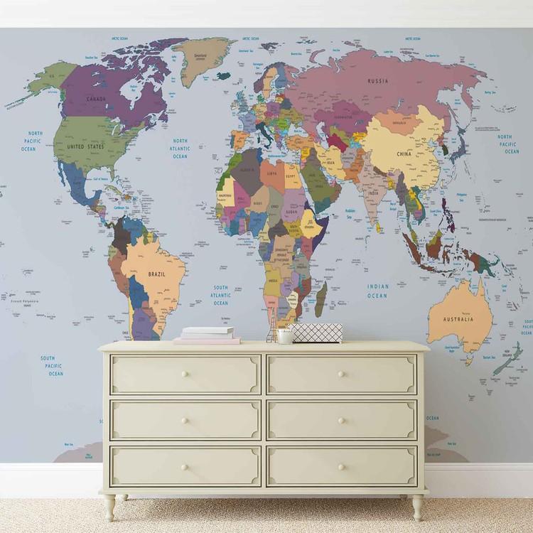 Carta da parati mappa del mondo for Carta parati mondo