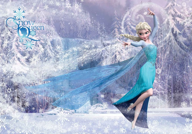 Fototapeta, Tapeta Disney Frozen Elsa, (254 x 184 cm) 254x184 cm - 115g/m2 Paper