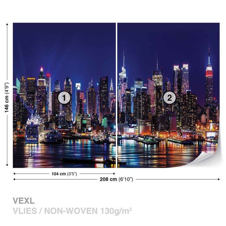 la ville de new york poster mural papier peint acheter le sur. Black Bedroom Furniture Sets. Home Design Ideas