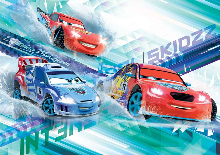 Fototapeta, Tapeta Disney Cars Auta Raoul, McQueen, (254 x 184 cm) 254x184 cm - 115g/m2 Paper