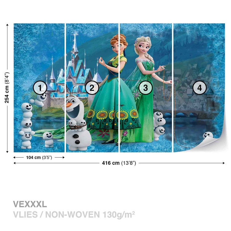 disney reine des neiges poster mural papier peint. Black Bedroom Furniture Sets. Home Design Ideas