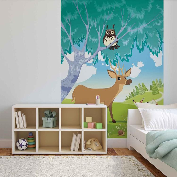 Fototapeta, Tapeta Zvířata v lese, (184 x 254 cm)