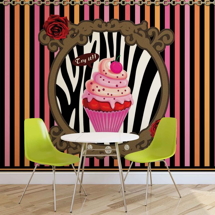 cupcake ray s poster mural papier peint acheter le sur. Black Bedroom Furniture Sets. Home Design Ideas