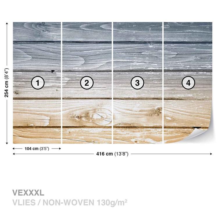Carta da parati assi di legno for Parati 3d prezzi